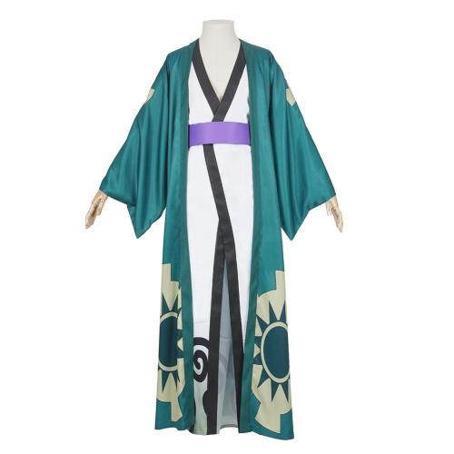 One Piece Halloween Carnival Costume Roronoa Zoro Kimono Robe Full Suit Outfit Cosplay Costume