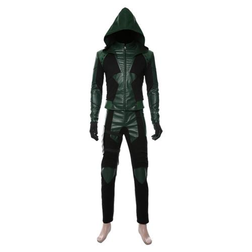 Green Arrow Season 8 Oliver Queen Suit Cosplay Costume
