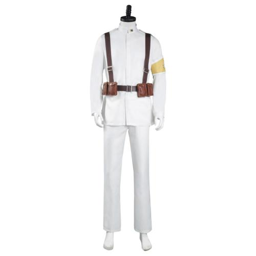 Shingeki no Kyojin Attack on Titan S4 Marley Eldian Army White Uniform Outfit Cosplay Costume Halloween Carnival Suit