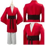 Movie Mulan 2020 Princess Hua Mulan Red Fancy Dress Chinese Han Cosplay Costume Fu Kids/Children Halloween Carnival Outfit