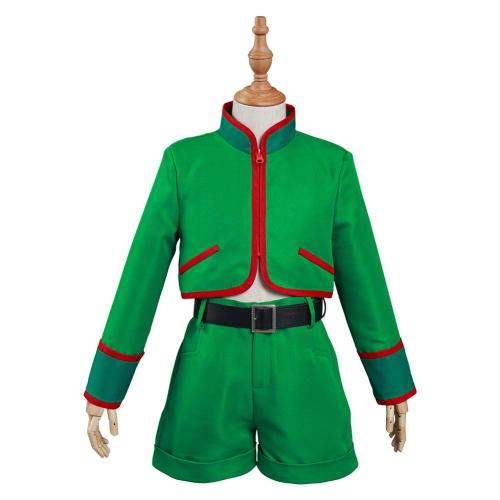 Hunter x Hunter Kids Children Top Pants Outfit Gon Freecss Halloween Carnival Suit Cosplay Costume