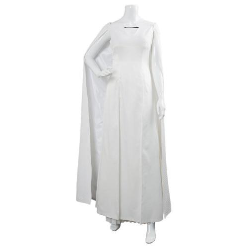 Game of Thrones 5 Daenerys Targaryen Dress White Long Party Dress Ball Gowns