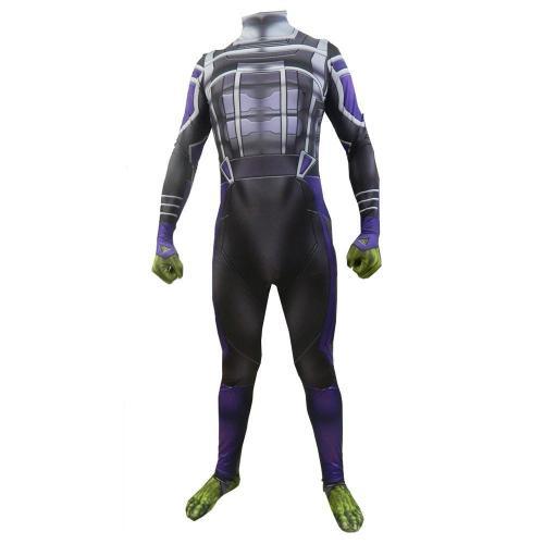 Avengers 4 Endgame Hulk Jumpsuit Cosplay Costume Adult