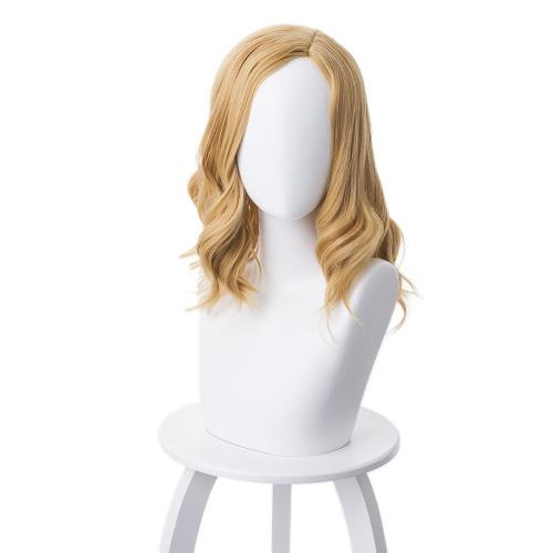 Avengers Endgame Captain Marvel Carol Danvers Cosplay Wig Blond 45CM