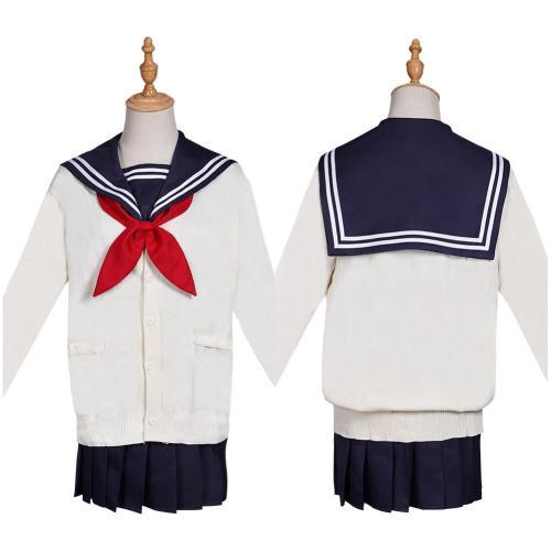Boku no Hero Academia My Hero Academia Himiko Toga Halloween Carnival Suit Cosplay Costume Top Skirt Outfit