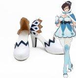 Overwatch OW MEI cosplay high heel shoes boot