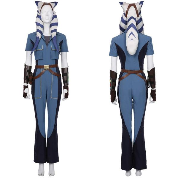 Star Wars: The Clone Wars Season 7 Halloween Carnival Costume Ahsoka Tano Overalls Cosplay Costume