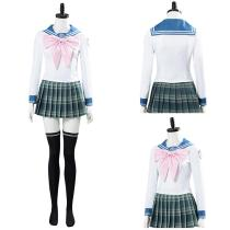 Danganronpa 3 Halloween Carnival Costume SAYAKA MAIZONO Cosplay Costume Women Uniform Dress Outfit