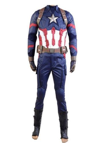 Captain America: Civil War Steve Rogers Uniform Cosplay Costume