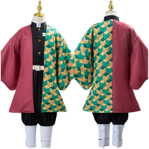 Anime Demon Slayer Kimetsu no Yaiba Uniform Outfit Tomioka Giyuu Cosplay Costume for Kids Children