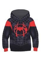 Boys Hoodie Spider-Man: Into the Spider-Verse Miles Morales Gwen 3D Sweatshirt Kids