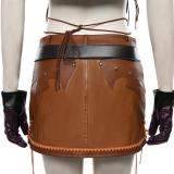 Final Fantasy VII Remake Halloween Carnival Costume Tifa Lockhart The Cowboy Suit Cosplay Costume