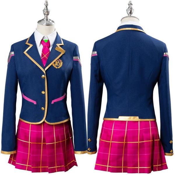 Overwatch DVA Young School Cosplay Costume