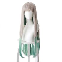 Jibaku Shounen Hanako-kun Yashiro Nene Silver Gray Gradient Green Long Hair Cosplay Wig