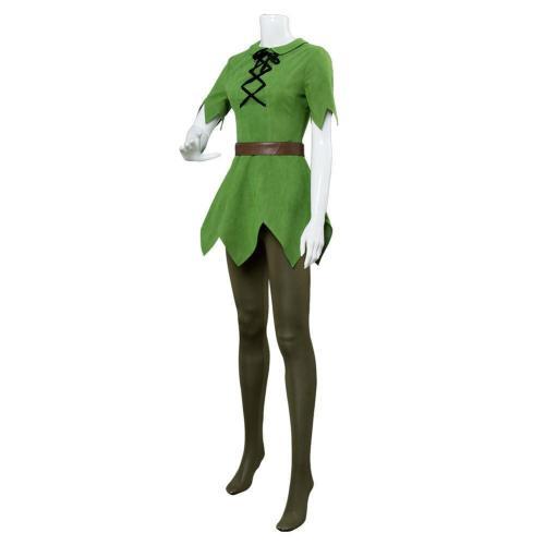 Disney Movie Peter Pan Female Cosplay Costume