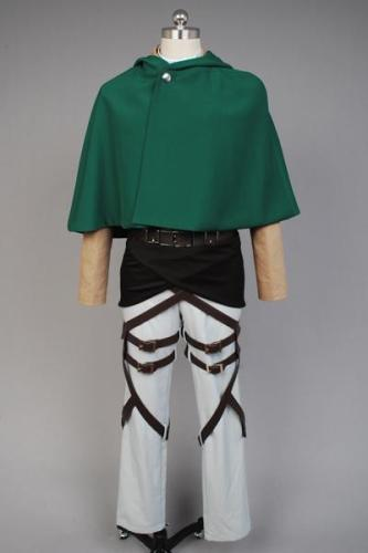 Attack on Titan Shingeki no Kyojin Scouting Legion Rivaille With Cape Cosplay Costume