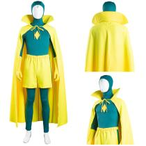 Wanda Vision Jumpsuit Cloak Outfit Vision Halloween Carnival Suit Cosplay Costume