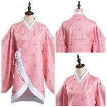 Demon Slayer: Kimetsu no Yaiba Kamado Nezuko Cosplay Costume Kimono Coat