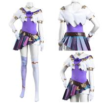League of Legends LOL Women Dress Outfit KDA Groups Seraphine Skin Halloween Carnival Suit Cosplay Costume