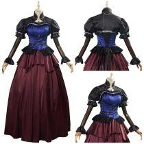 Cloud Strife Final Fantasy VII Remake Game Women Dress Outfit Cosplay Costume