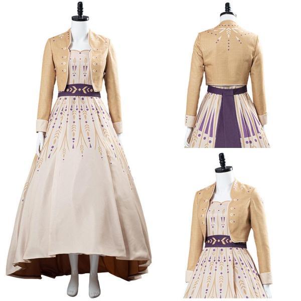 Frozen 2 Princess Anna Picnic Dress Cosplay Costume