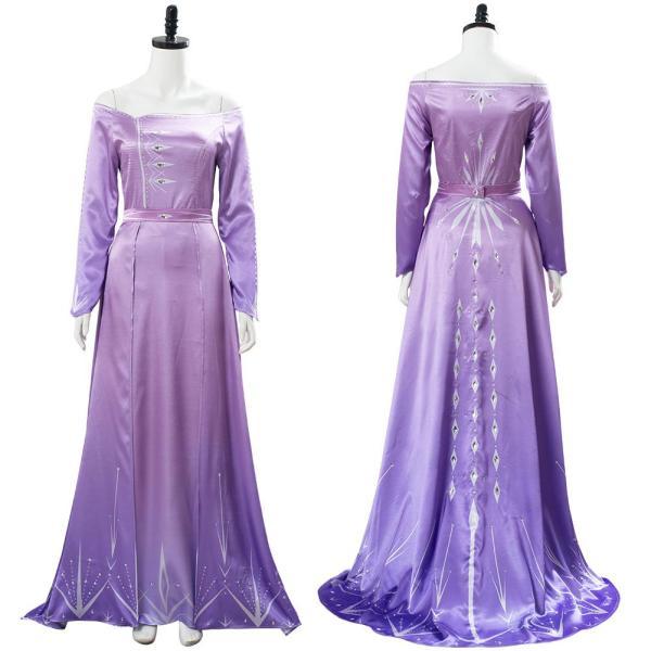 Frozen 2 Purple Arendelle Bedroom Dress Elsa Pink Violet Nightgown Gown Cosplay Costume