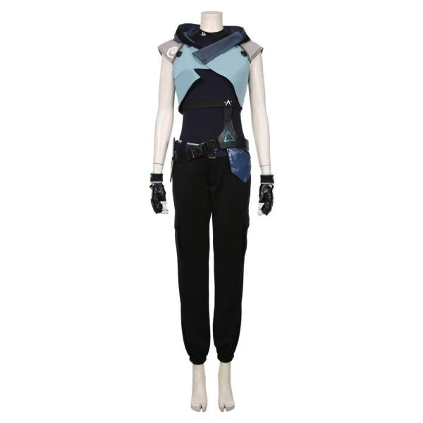Jett Game Valorant Halloween Jumpsuit Outfit Cosplay Costume