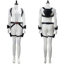 Shield Avengers Black Widow Movie Natasha Romanoff White Suit Cosplay Costume