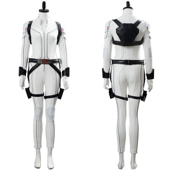 Shield Avengers Black Widow Movie Natasha Romanoff White Suit Cosplay Costume
