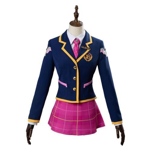 Overwatch Academy Dva Skin Cosplay Costume 3-YEAR Anniversary Outfit