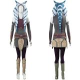 Star Wars Rebels Ahsoka Tano Cosplay Women Dress Outfit Halloween Carnival Costume