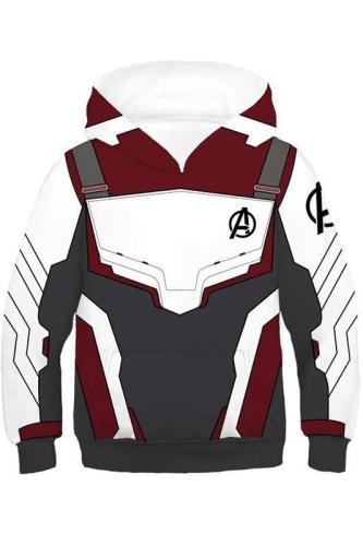 Kids Avengers 4 Endgame Hoodie Captain Ameriaca Quantum Realm Suit Pullover Sweatshirt Unisex