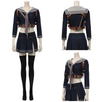 Sucker Punch Women Uniform Skirt Outfit Baby Doll Halloween Carnival Suit Cosplay Costume