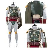 Star Wars Men Uniform Outfit Boba Fett Cosplay Costume  Halloween Carnival Suit