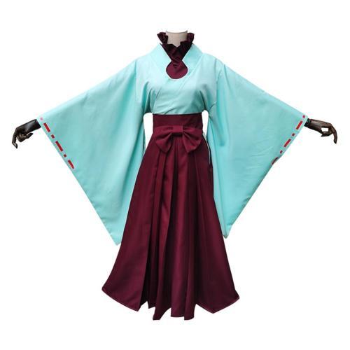 Jibaku Shounen Hanako Kun Toilet-Bound Hanako-kun Akane Aoi Halloween Women Haori Kimono Dress Cosplay Costume