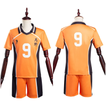 Haikyuu T-shirt Shorts Jersey Sports Wear Tobio Kageyama Karasuno High School Club No.9 Uniform Two Piece Sets Cosplay Costume