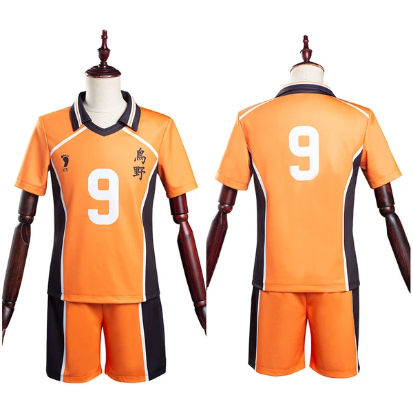 Haikyuu T-shirt Shorts Jersey Sports Wear Tobio Kageyama Karasuno High School Club No.9 Uniform Two Piece Sets Cosplay Costume
