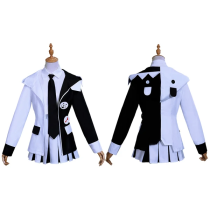 Danganronpa Anime Monokuma Halloween Carnival Suit Cosplay Costume Women Dress Outfit
