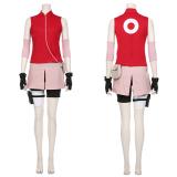 NARUTO Halloween Carnival Costume Haruno Sakura Women Girls Skirt Outfit Cosplay Costume