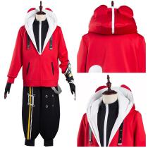Game STAR SMASH Coat Pants Outfit Yu Red Braves Halloween Carnival Suit Cosplay Costume