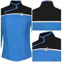 Star Trek: Lower Decks Season 1 Blue Uniform Shirt Top Cosplay Costume