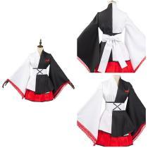 Danganronpa Black White Bear Kimono Dress Outfit Monokuma Halloween Carnival Suit Cosplay Costume