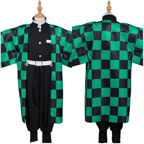 Demon Slayer: Kimetsu no Yaiba Kids Kimono Outfit Kamado Tanjirou Halloween Carnival Suit Cosplay Costume