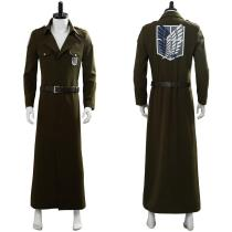Attack on Titan Season 3 Eren Cosplay Costume Scouting Legion Soldier Officer Uniform