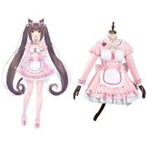 Nekopara Chocola/Vanilla Cosplay Costumes Maid Dress OutfitS Halloween Carnival Suit