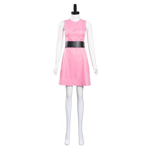 The Powerpuff Girls Blossom Cosplay Costumes Dress Outfits Halloween Carnival Suit