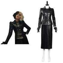 Cruella -Cruella de Vil Cosplay Costumes Outfits Halloween Carnival Suit
