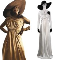 Resident Evil Village Alcina Dimitrescu Cosplay Costume Outfits Halloween Carnival Suit