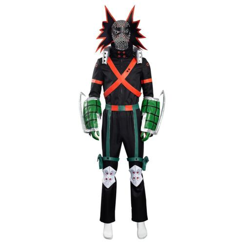 My Hero Academia S5 Bakugou Katsuki Cosplay Costume Battle Outfits Halloween Carnival Suit