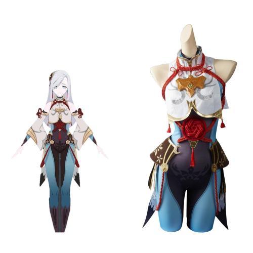 Genshin Impact Shenhe Cosplay Costume Halloween Carnival Suit